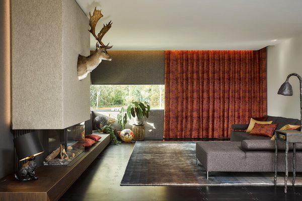 Ein Seidenteppich im Wohnzimmer